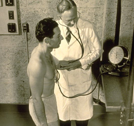 Laboratory of Physiological Hygiene, testing young man